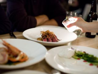 Pair your delicious meal at Commonwealth with a glass of wine.