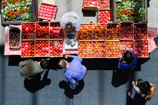 San Francisco's Can't-Miss Farmers' Markets | Crocker Galleria Farmer's Market