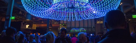 Visit the Exploratorium to excite your atoms at Glow, the annual festival of ebullient lights and subtle glows, on Thursday, Dec. 6, 2018.