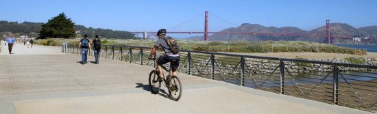 Bicycling in Crissy Field
